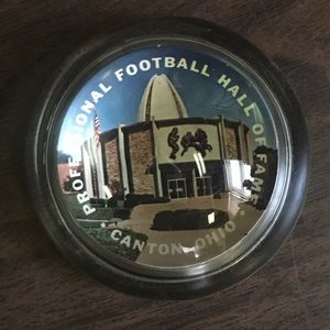 Professional Football Hall of Fame  Paperweight